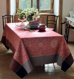 Garnier Thiebaut Appoline Tablecloth - Flamant