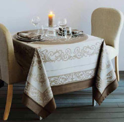 Garnier Thiebaut Comtesse GS Tablecloths - Gray