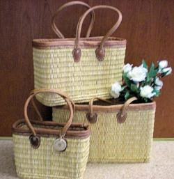 Go Green with genuine French Market Baskets